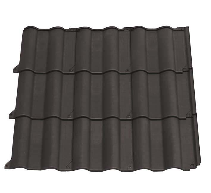 plaque imitation tuile flamande brune. Black Bedroom Furniture Sets. Home Design Ideas